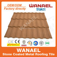 Australia Popular colorful stone coated metal roofing tile/metal corrugated tile roofing/stone chip coated metal roof tile