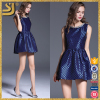 Latest Design 3D Shining Pattern Jacquard Bead Skater Dress
