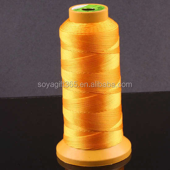 Orange Sewing Machine Thread of Weaving 100% Polyester For Quilting Stitching