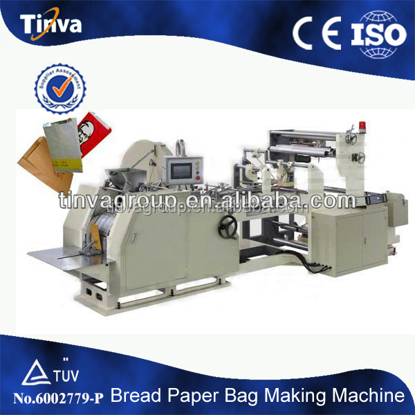 China professional manufacturer v-bottom bread food paper bag making machine