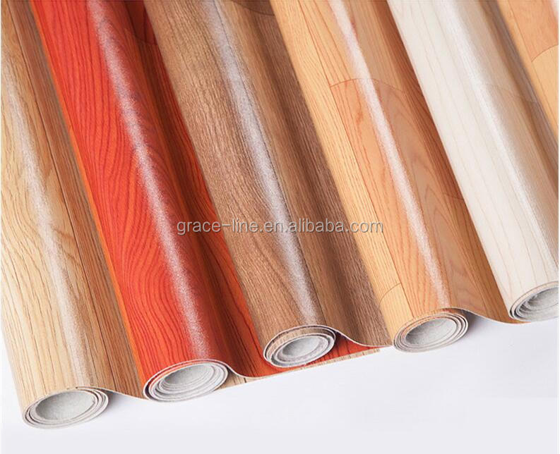 Non-Slip Wear-Resistant waterproof wood pattern pvc vinyl flooring Mat Roll
