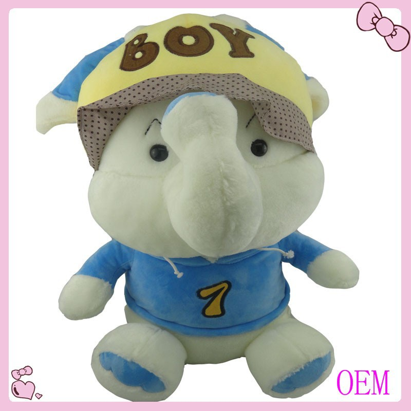 Funny design stuffed soft animal toy elephants dolls kid toy custom lovely plush toy factory