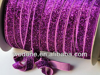 "Stretch glitter elastic 3/8"" and 5/8"" available"