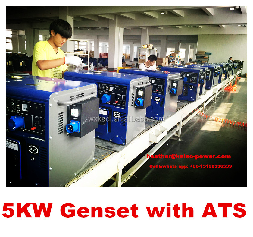 3KW,5KW,6KW, Silent generator with ATS popular generator with high quality hot sale in South africa market