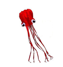 Beautiful Large Easy Flyer Kite For Kids Red Mollusc Octopus Nylon Monofilament Kite Thread