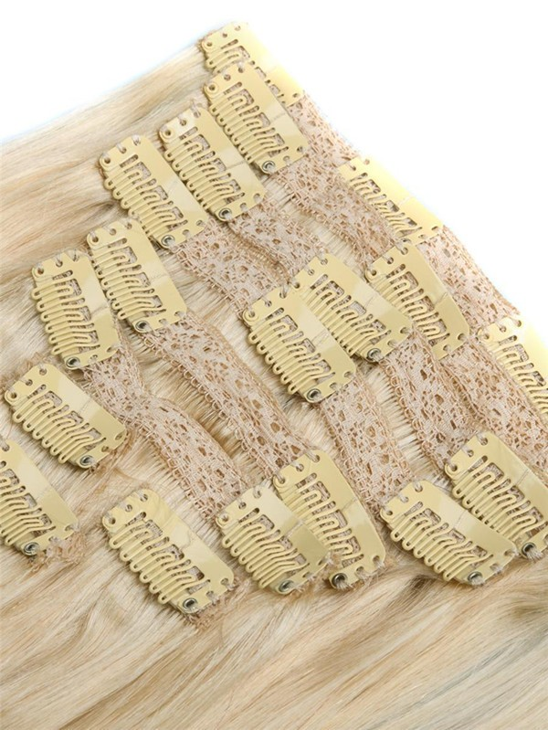 Full Cuticle Thick Ends Brazilian Virgin Lace Clip In Hair Extension