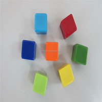 colorful blank dice
