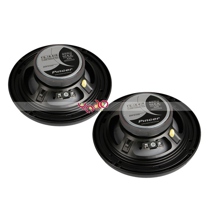 400W 6.5-inch 2-way Coaxial Car <strong>Speaker</strong> 1641RK Black