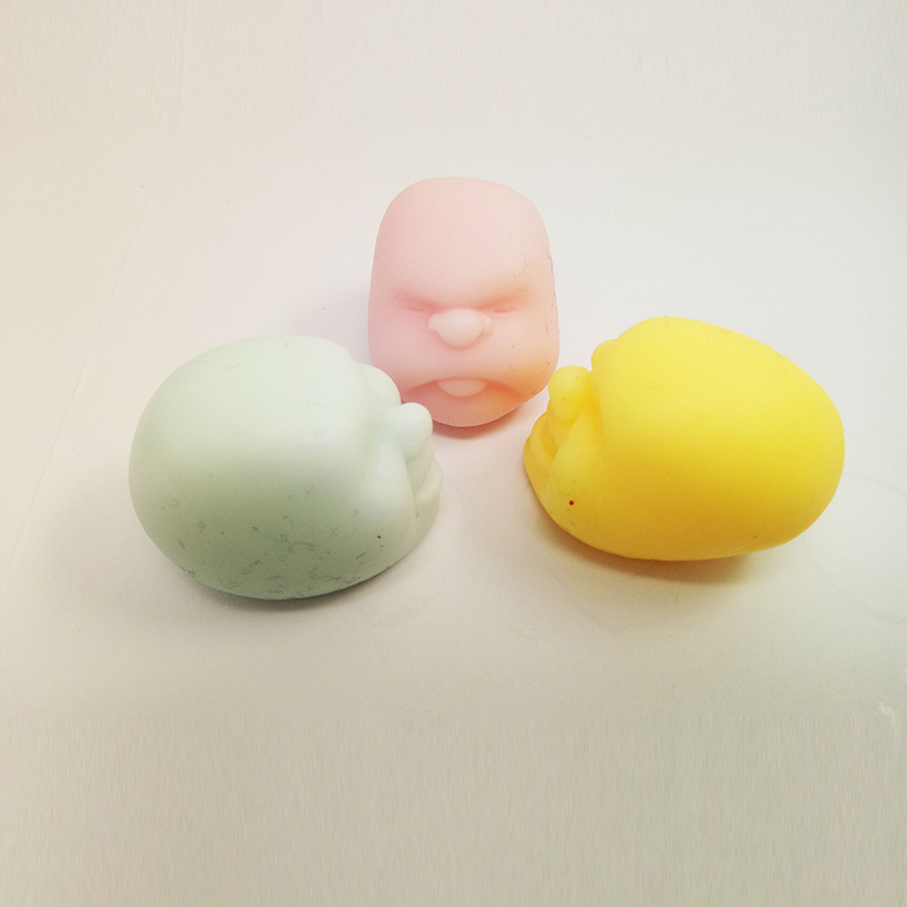 Funny Face Emotion Vent Ball squeeze toys Resin Relax Doll Stress Relieve squishy Ball Gift Toys