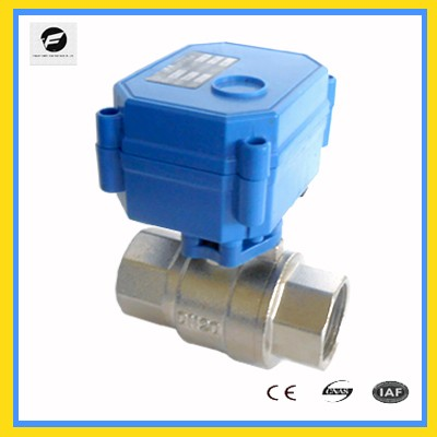 110v CWX-60 three way electric operated ball valve