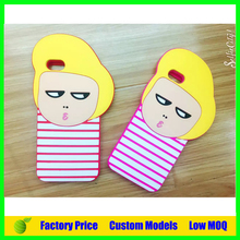 Korea Boy 3d silicone mobile phone case for Alcatel one touch Idol 3 4.7 5.5 cell phone back cover case