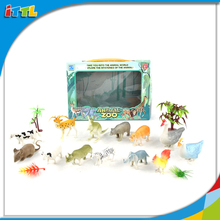 13PCS Wholesale Plastic Wild Forest Animal Playing Set Zoo Animal Toy