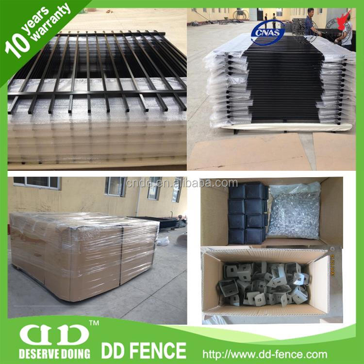 High quality aluminum fence/steel fencing/ wrought iron fence supplies
