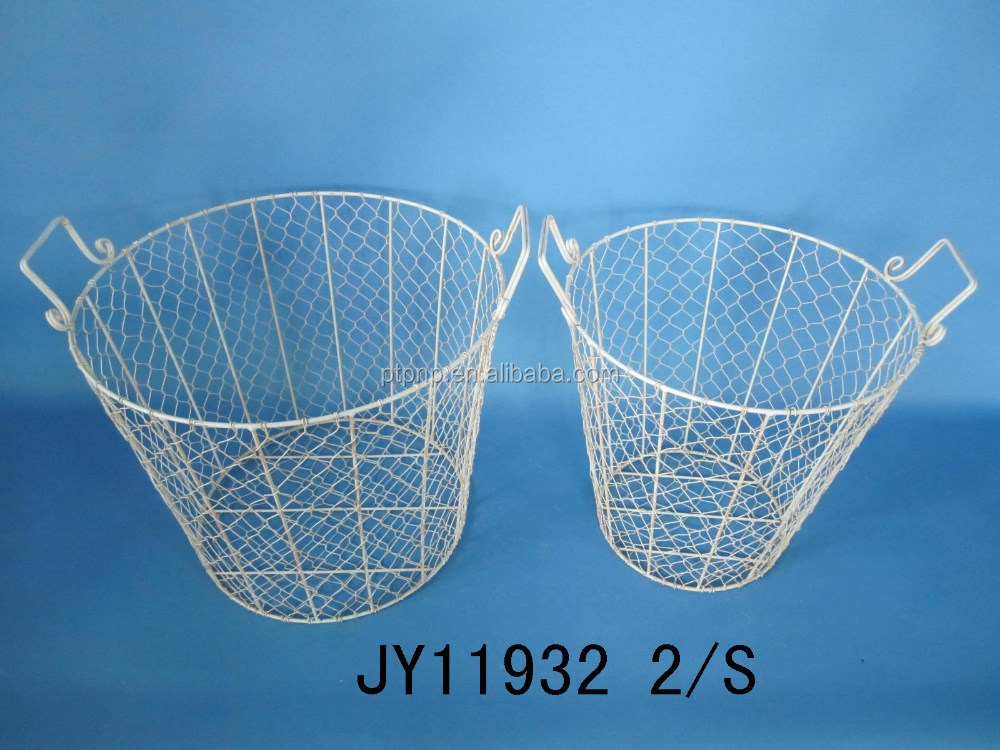 Hot sell Home Decor Wire Fruit Basket Metal Basket Wire Storage Basket Decorative