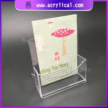 acrylic store fixturer wall mounted brochure holder for exhibition display