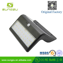 2017 high quality led solar motion sensor security wall lights for garden and courtyad