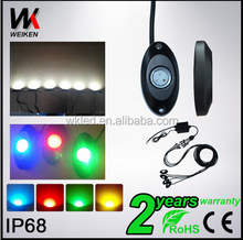 9 Watt Multi-color led Rock light 6 Pods Amber Led Car Rock Light Offroad RGB rock light