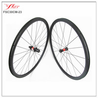 Internal nipple Far Sports high end carbon bike wheels 30mm deep 23mm wide carbon clincher wheelset with DT 240S hub 36 ratchets