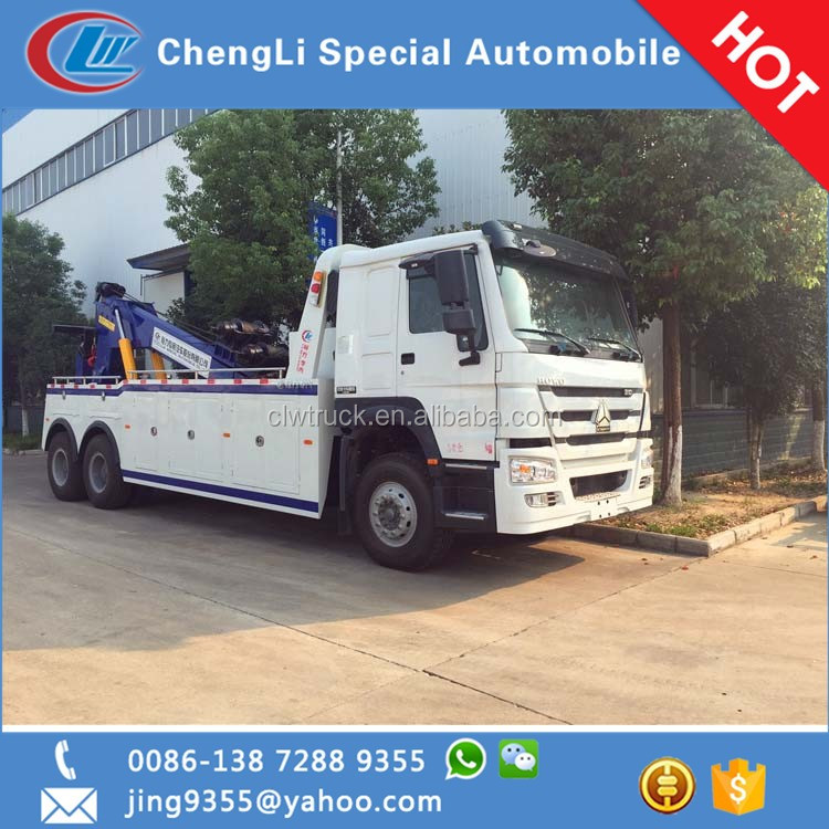 SINOTRUK HOWO 20ton rotator towing wrecker truck sale in Dubai