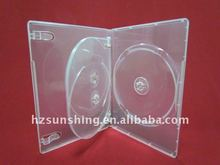 14mm clear three dvd disc box