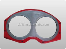 concrete pumping spare part Sermac spectacle wear plate and cutting ring with tungsten carbide