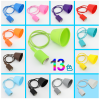 New design modern Colorful E27 Silicon pendant light bulb holder socket