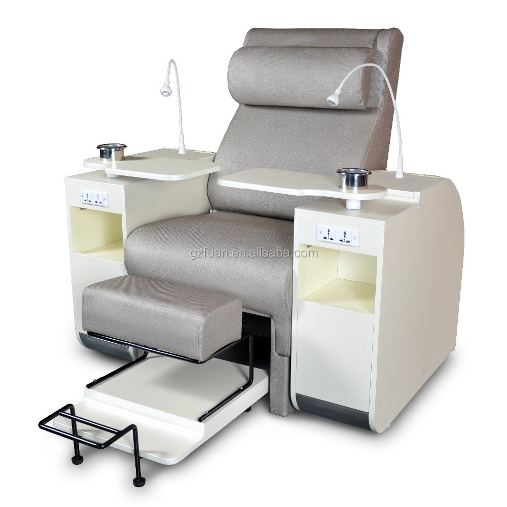 Used salon furniture white pipeless used spa pedicure for Nail table and chairs