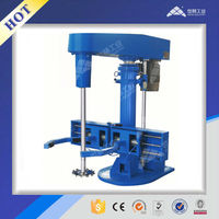 Glass cement hydraulic lifting high speed dispersion machine