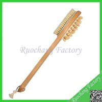 Bath Comb&Brush Boar Bristles and Massage Nubs Body shower brush