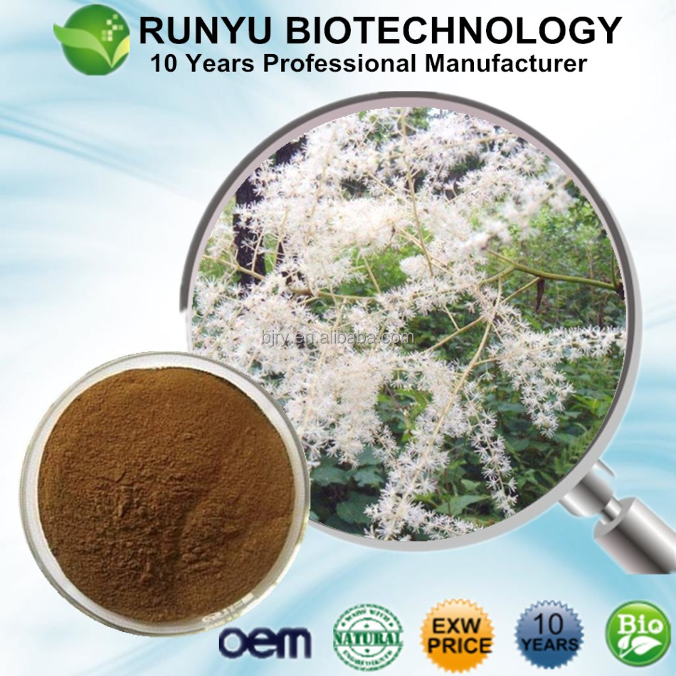 Factory outlet High quality Black cimicifuga extract powder, Actaea racemosa extract
