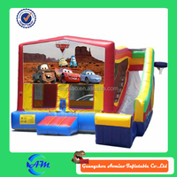 Most Popular and Super Attractive Inflatable bouncy castle with slide ,inflable bouner,inflatable combo