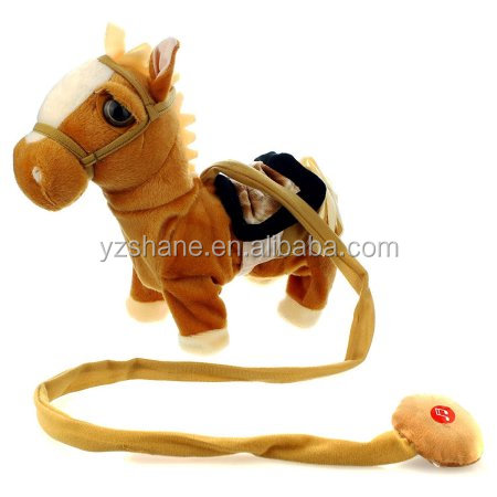 My Walking Along Horse Stuffed Plush Toy Realistic Walking Actions with Horse Plush Sounds and Music Toy