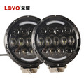 "High power 105w round 7"" osram led work lights for 4x4 offroad tractors and vehicles"