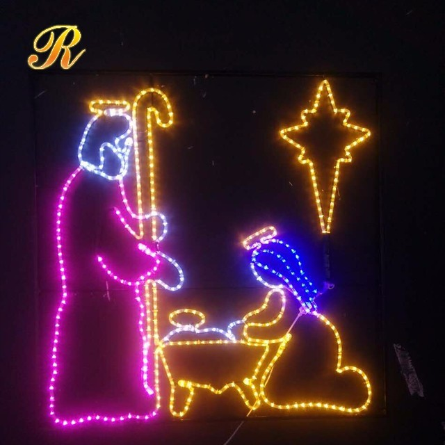 LED nativity set Christmas yard decoration