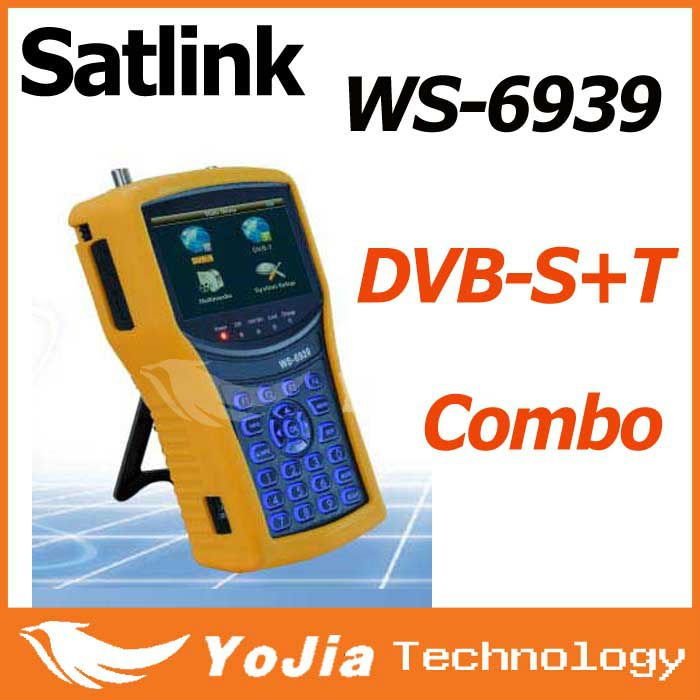Original Satlink WS-6939 Digital Terristrial Combo DVB-S/DVB-T meter Satellite Finder