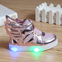 Eur21-30 //2016 Children&toddlers&baby Led Kids Light Up Sports Shoes Luminous Glowing Breathable Sneakers for Boys&Girls