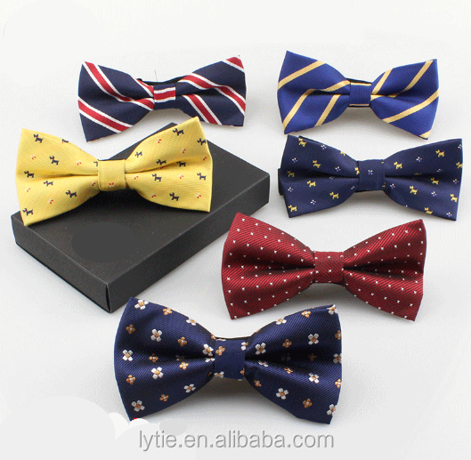 2016 New High Quality Woven Polyester Kids Bowties