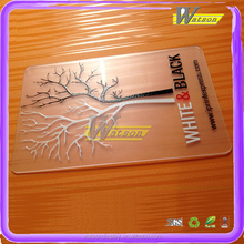 Hot sale plastic transparent business gift card