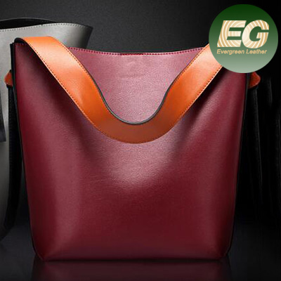 Big shopping tote bags fashionable women genuine leather designer handbags EMG4701