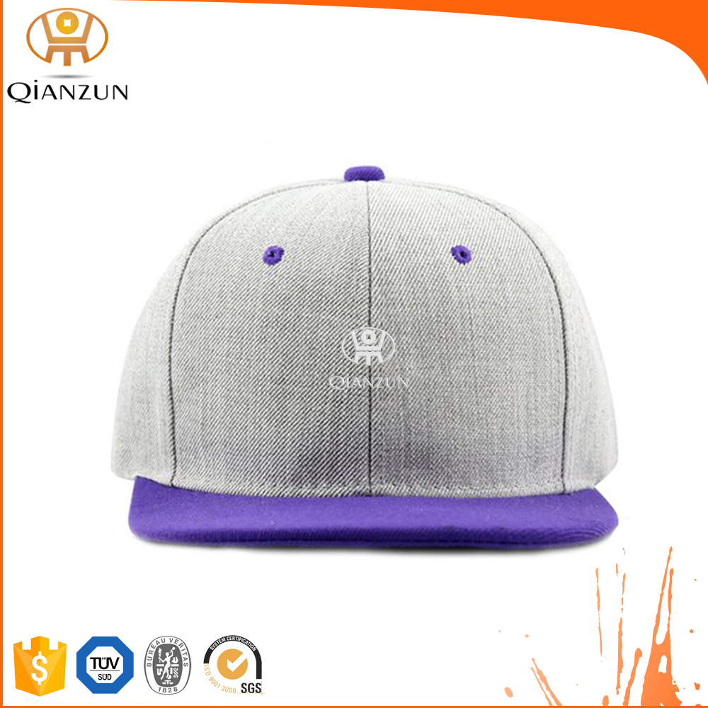 Qianzun 3D Custom Embroidery Snapback Caps/Hats Bulk Wholesale