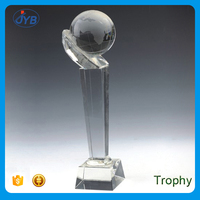 customized shape high end crystal K9 replica baseball trophy cup maker