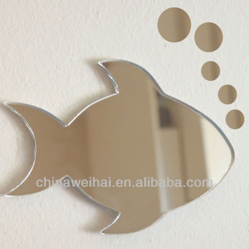 Acrylic Fish, Floating Bubbles Mirror