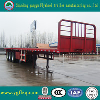 Jingyanggang Brand Customized 3 Axle Flatbed Platform Semi Truck Trailers for sale