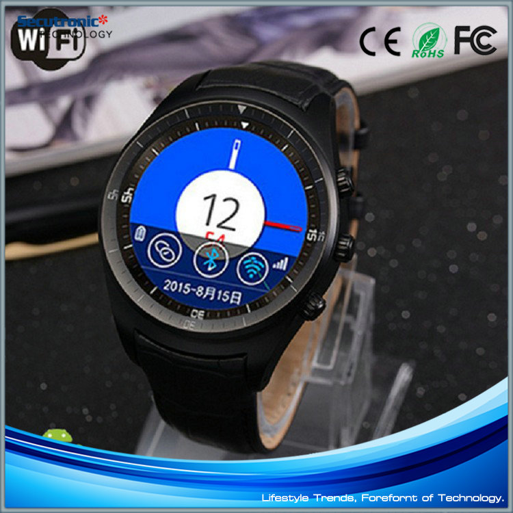 2016 New Round Screen No1 G3 GPS K18 Smart Watch with Heart Rate Monitor for Gear S2 SIM Card
