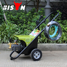 BISON(CHINA) BS1410 100 Bar 1450 PSI Mobile Electric High Pressure Water Jet Cleaning Machine