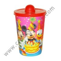 Plastic drinking 3D mug with lid