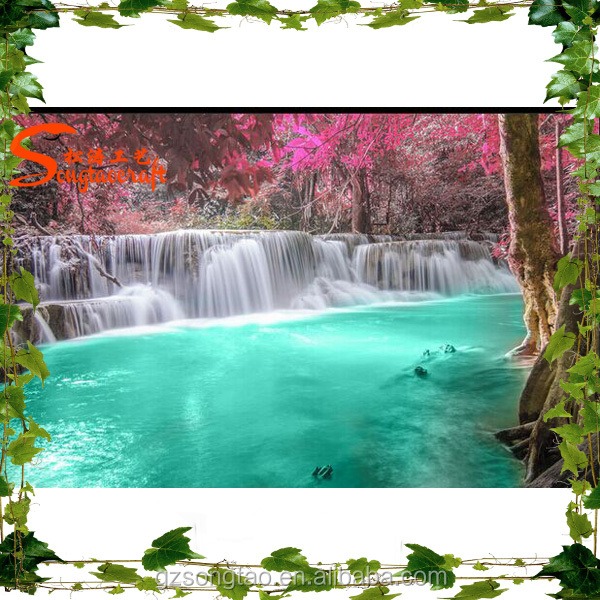 China manufacturer park wholesale waterfall outdoor design for Artificial waterfalls design