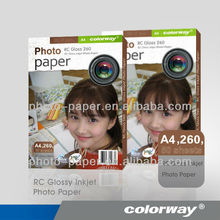 Factory Sell,cheap price,excellent quality 260gsm Premium Waterproof RC Glossy Photo Paper,4x6 size
