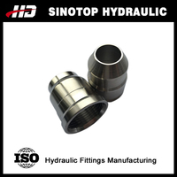 CNC machinery stainless steel hydraulic collar / cap /ferrule