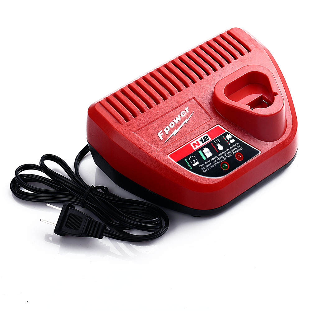 Supply Milwaukee battery 10.8v 12V Replacement Customized lithium charger